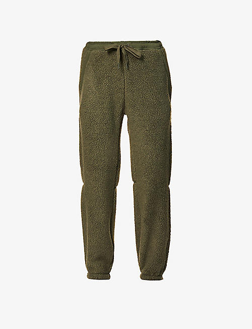 HOLDEN: Relaxed tapered mid-rise fleece jogging bottoms