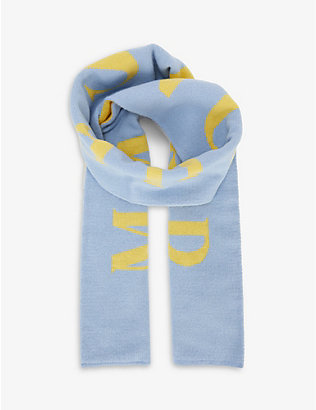 HADES: Manchester-embroidered wool scarf