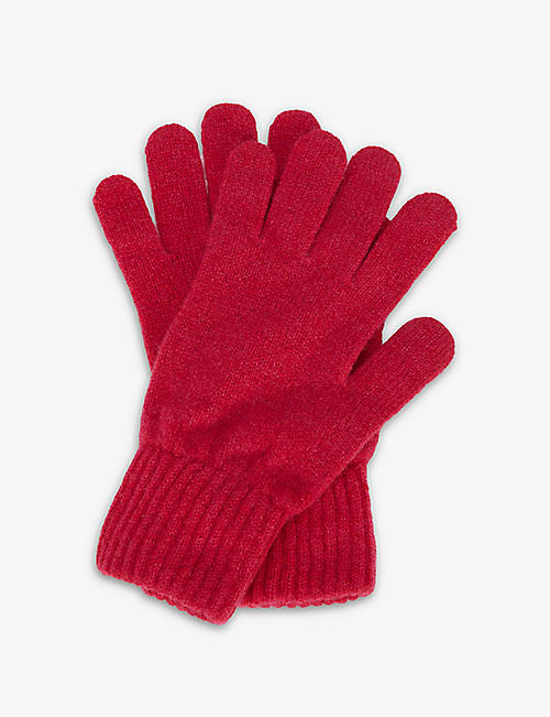HADES: Ribbed-trim wool gloves
