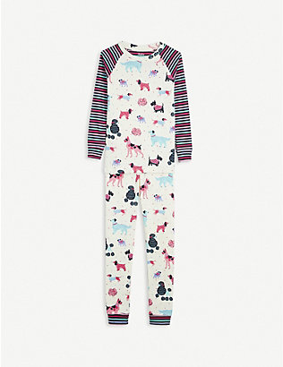 HATLEY: Puppy-print cotton pyjamas 2-10 years