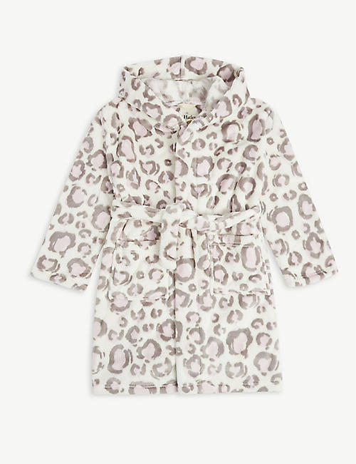 HATLEY: Leopard-print dressing gown 2-9 years