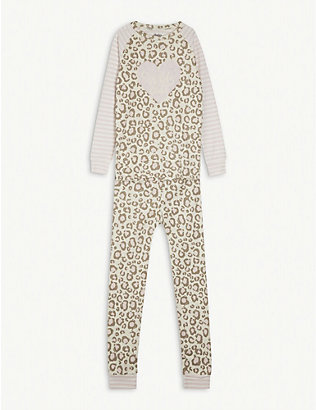 HATLEY: Leopard cotton pyjama set 4-10 years