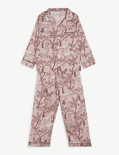 DESMOND AND DEMPSEY: Safari organic cotton pyjama set 2-9 years