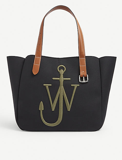 JW ANDERSON: Belt recycled-canvas tote bag