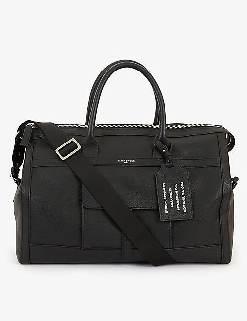 MARK CROSS: Mick grained-leather holdall bag