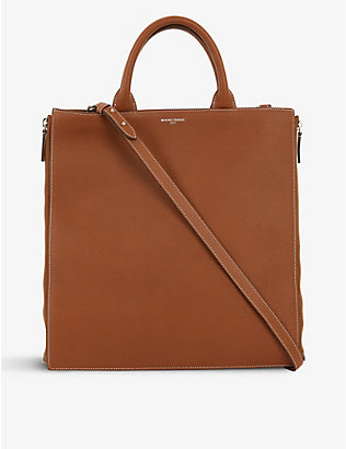 MARK CROSS: Sidney brand-embossed leather tote