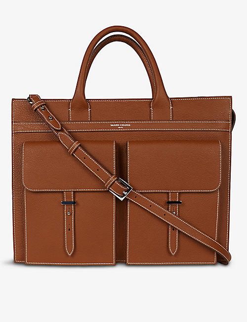 MARK CROSS: Reid textured leather briefcase