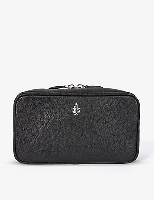 MARK CROSS: Tumbled grained-leather wash bag