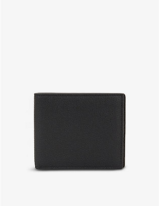 MARK CROSS: Terry logo-print textured leather wallet