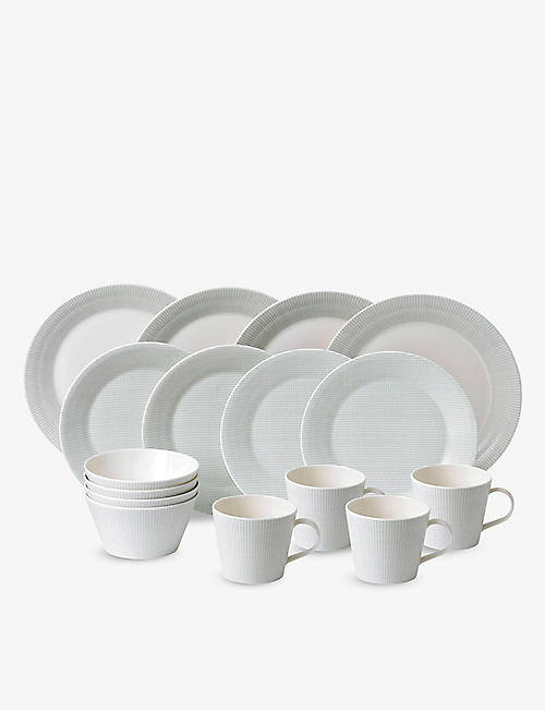 ROYAL DOULTON: Pacific Dots porcelain 16-piece set