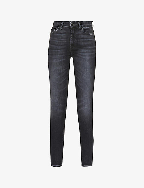 7 FOR ALL MANKIND: The Skinny Crop skinny high-rise jeans