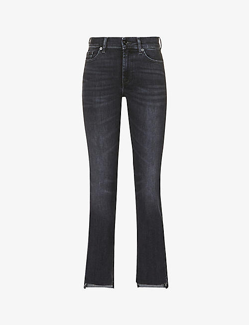7 FOR ALL MANKIND: Ankle Boot straight-leg mid-rise jeans