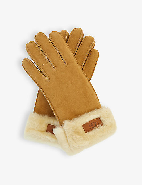 UGG: Turn Cuff shearling gloves