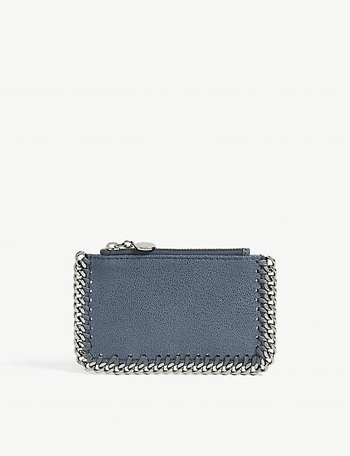 STELLA MCCARTNEY: Falabella faux-suede card holder