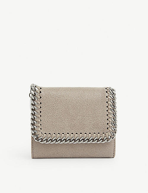 STELLA MCCARTNEY: Falabella small continental faux-leather wallet
