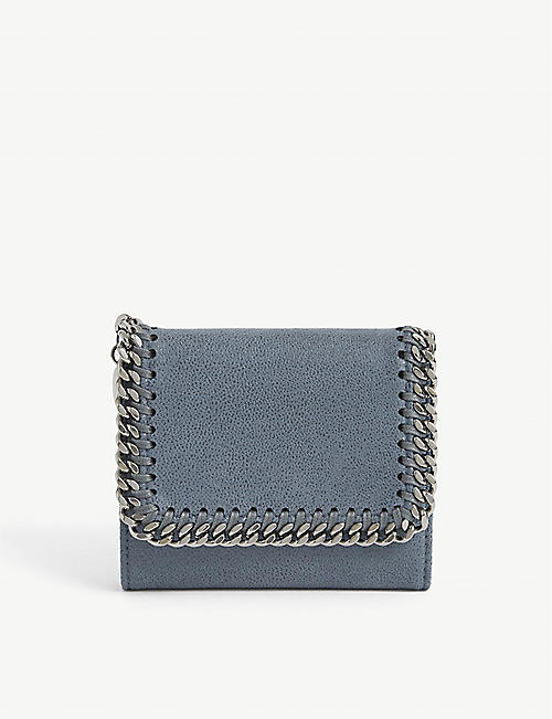 STELLA MCCARTNEY: Falabella faux-suede continental wallet