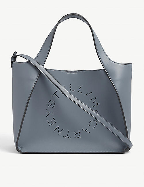 STELLA MCCARTNEY: Perforated-logo vegan-leather tote bag
