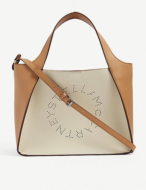 STELLA MCCARTNEY: Stella Logo vegan-leather tote bag