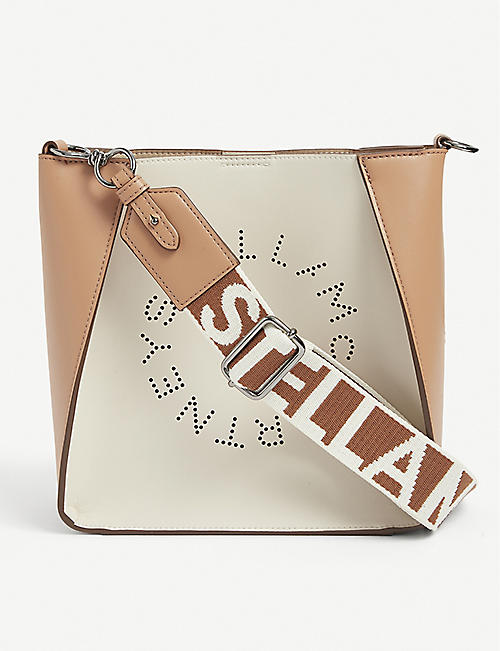 STELLA MCCARTNEY: Circle logo vegan-leather shoulder bag
