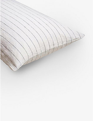 PIGLET: Luna striped linen standard pillowcases set of two