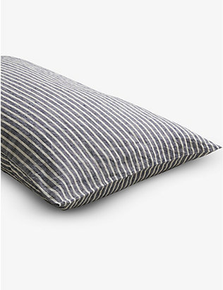 PIGLET: Midnight Stripe linen pillowcases set of two