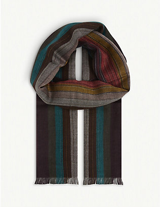 PAUL SMITH ACCESSORIES: Artist Clash wool scarf