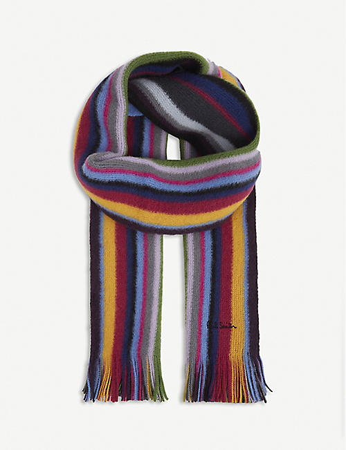 PAUL SMITH ACCESSORIES: Striped wool scarf