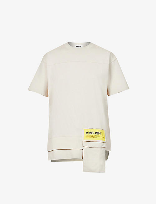 AMBUSH: New Waist Pocket branded-patch cotton-jersey T-shirt