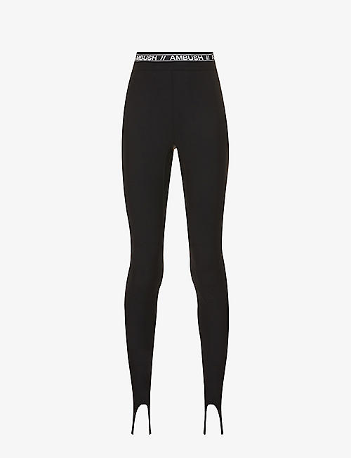 AMBUSH: Scuba logo-print skinny high-rise shell leggings