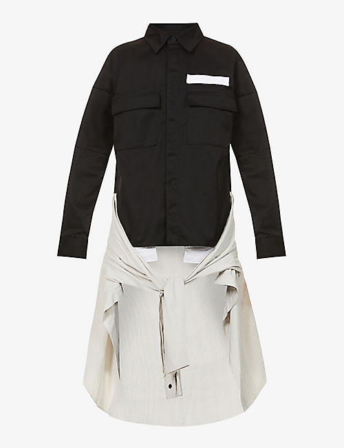AMBUSH: New Waist Tie woven shirt
