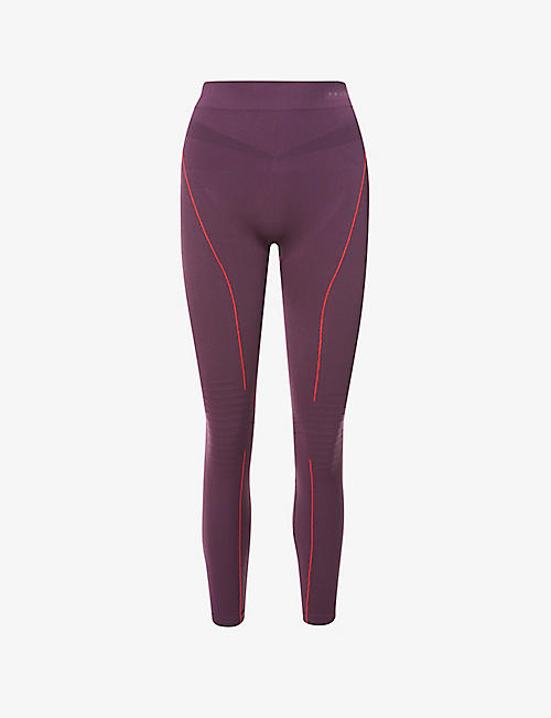 FALKE ERGONOMIC SPORT SYSTEM: Essential stripe high-rise stretch-woven leggings