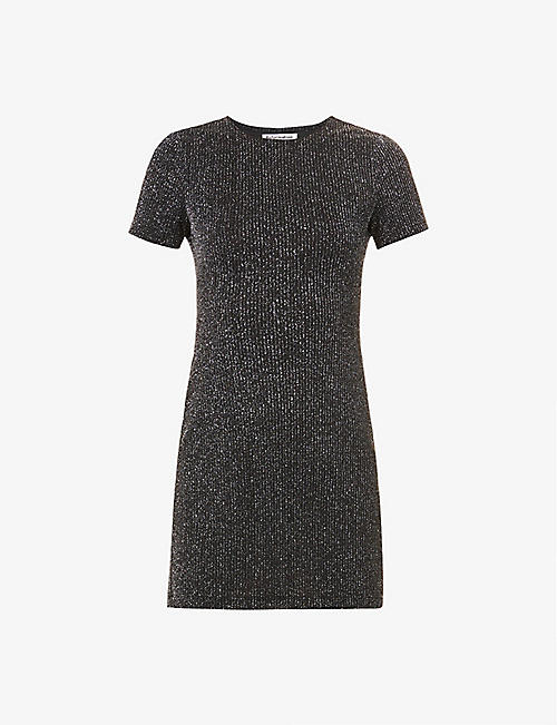 REFORMATION: Amina fitted stretch-woven mini dress