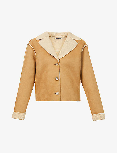 REFORMATION: Stoke collared faux-shearling jacket