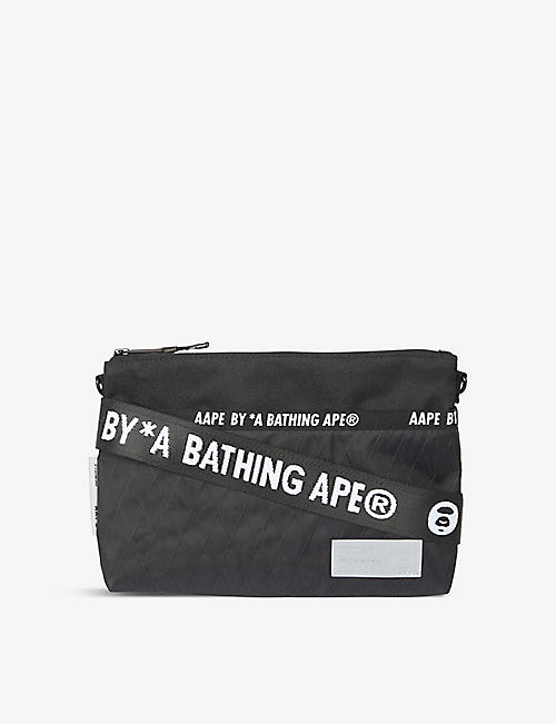 AAPE: Logo-embellished shell cross-body bag