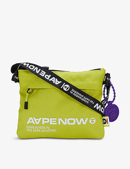 AAPE: Logo-print woven cross-body bag