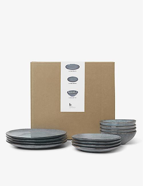 BROSTE: Nordic Sea ceramic dinner tableware set