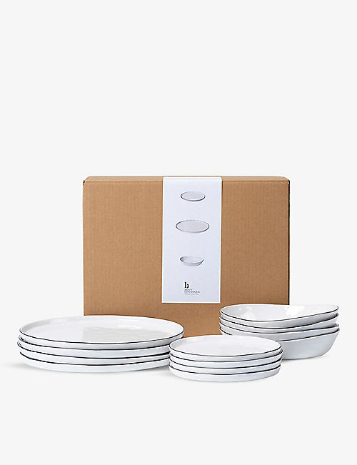 BROSTE: Salt porcelain tableware set