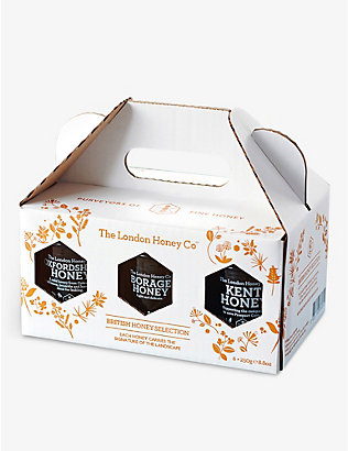 THE LONDON HONEY COMPANY: British Honeys gift box 1250g