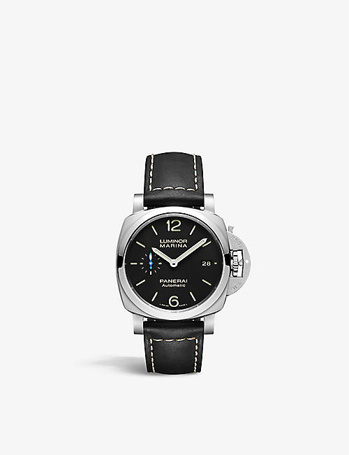 PANERAI: PAM02392 Luminor Marina stainless steel and leather automatic watch