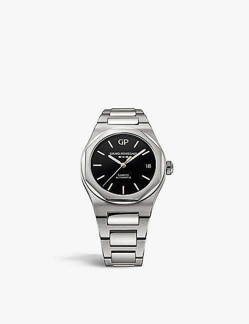 GIRARD-PERREGAUX: 81010-11-635-11A Laureato Infinity Edition stainless-steel and onyx automatic watch