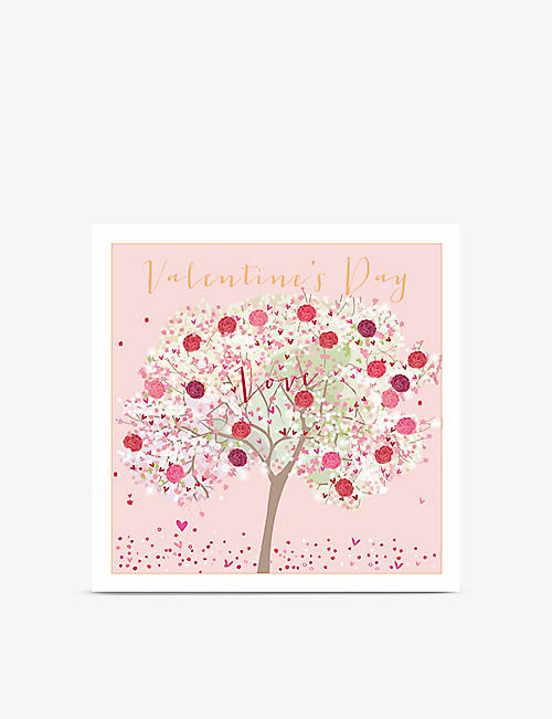 VALENTINES: Valentine's Day Love greetings card 22cm x 22cm