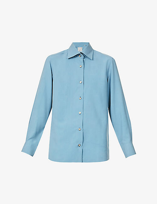 GIULIVA HERITAGE: Elvira regular-fit silk shirt
