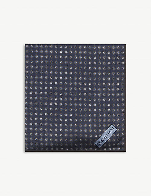 CORNELIANI: Jacquard silk pocket square 32cm x 32cm