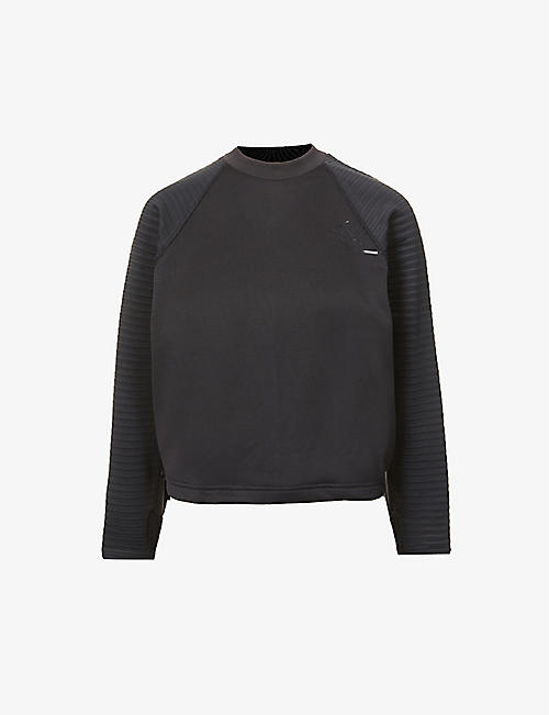 ADIDAS PERFORMANCE: Z.N.E Athletics Crew Cold RDY recycled polyester-blend sweatshirt