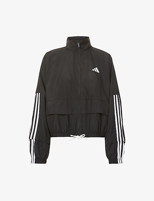 ADIDAS PERFORMANCE: Logo-print packable shell jacket