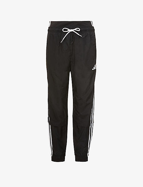 ADIDAS PERFORMANCE: Comfortable tapered high-rise shell jogging bottoms