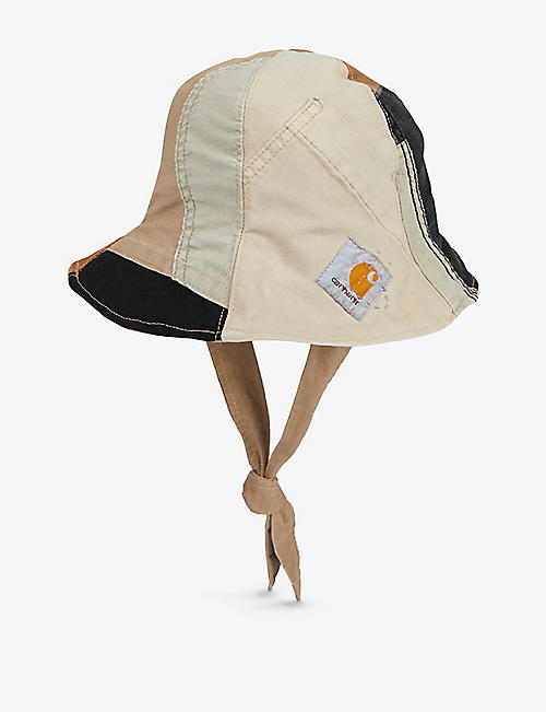 CARHARTT WIP: Delly Deacon patchwork cotton bucket hat