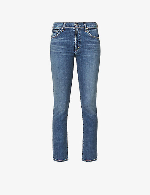 CITIZENS OF HUMANITY: Skyla mid-rise slim-fit jeans