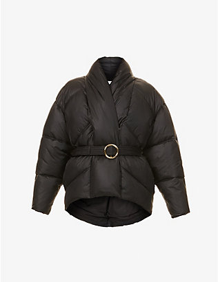 FRAME: Belted recycled nylon and polyester-blend puffer jacket