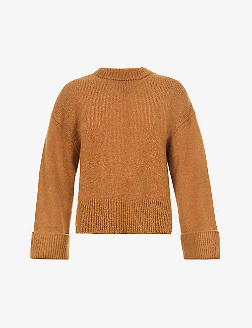 FRAME: Leon round-neck wool-blend jumper